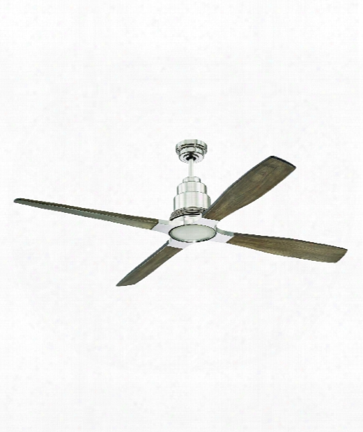 """Ricasso 60"""" Led 1 Light Ceiling Fan In Polished Nickel"""