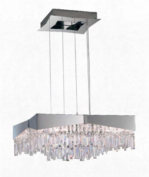 """Riviera 24"""" 8 Light Large Pendant In Stainless Steel"""