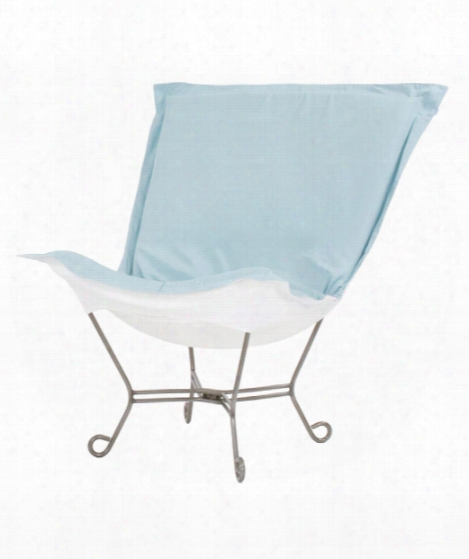 "Scrollp Uff 40"" Occasional Chair In Light Blue"