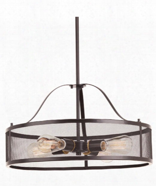 "Swing 20"" 4 Light Large Pendant In Antique Bronze"