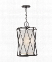 "Adler 13"" 3 Light Foyer Pendant in Bronze"