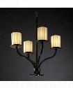 "Limoges Sonoma 22"" 4 Light Chandelier in Dark Bronze"