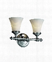 "Limoges Tradition 14"" 2 Light Wall Sconce in Chrome"