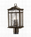 "Meadowlark 9"" 3 Light Outdoor Outdoor Post Lamp in Oil Rubbed Bronze"