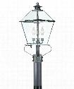 "Montgomery 10"" 3 Light Outdoor Outdoor Post Lamp in Charred Iron"
