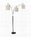"Overlook 40"" 3 Light Reading Lamp in Oil Rubbed Bronze"