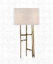 "Vail 15"" 1 Light Table Lamp in Gilded Iron"