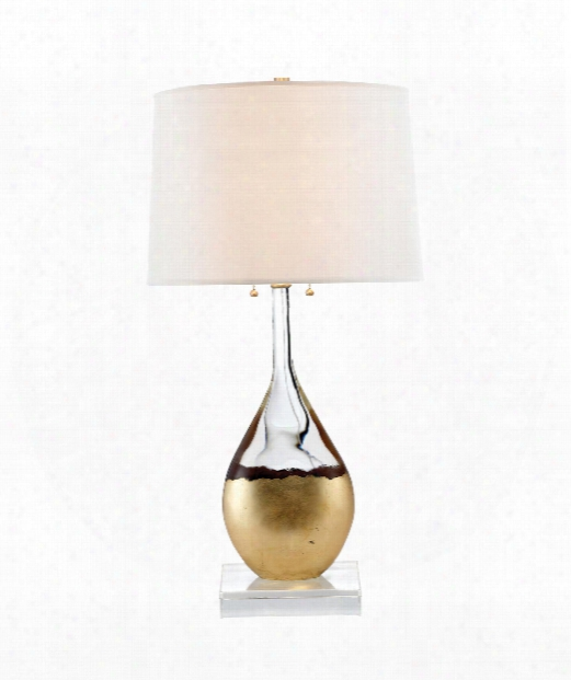 "16"" 2 Light Table Lamp In Crystal"