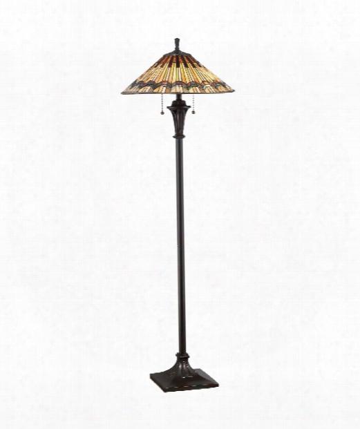 "Alcott 21"" 2 Light Floor Lamp In Valiant Bronze"
