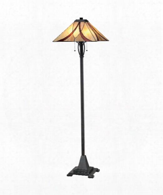 """Asheville 17"""" 2 Light Floor Lamp In Valiant Bronze"""