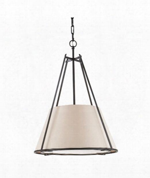 "Aspen 21"" 1 Light Large Pendant In Blackened Rust"