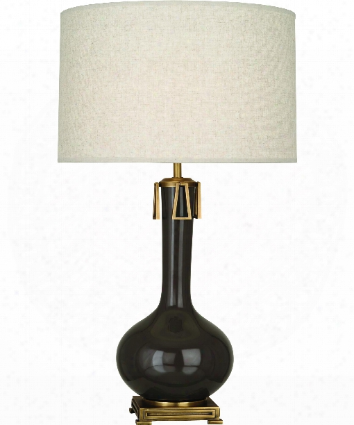 """Athena 9"""" 1 Light Table Lamp In Aged Brass-brown Tea"""