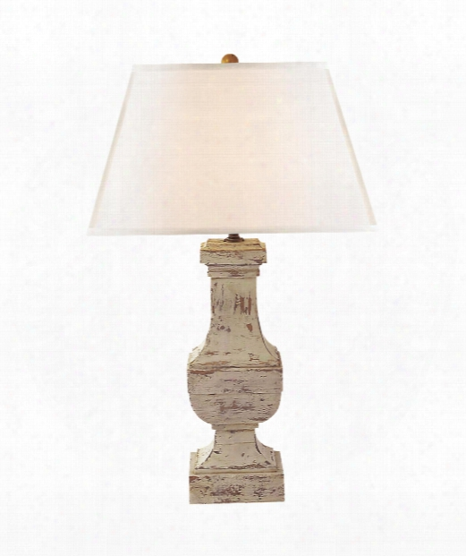 "Balustrade 16"" 1 Light Table Lamp In Old White"