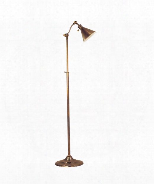 Boston 1 Light Reading Lamp In Hand-rubbed Antique Brass
