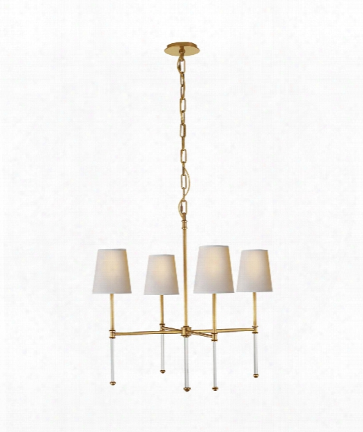 """Camille 27"""" 4 Light Chandelier In Hand-rubbed Antique Brass"""