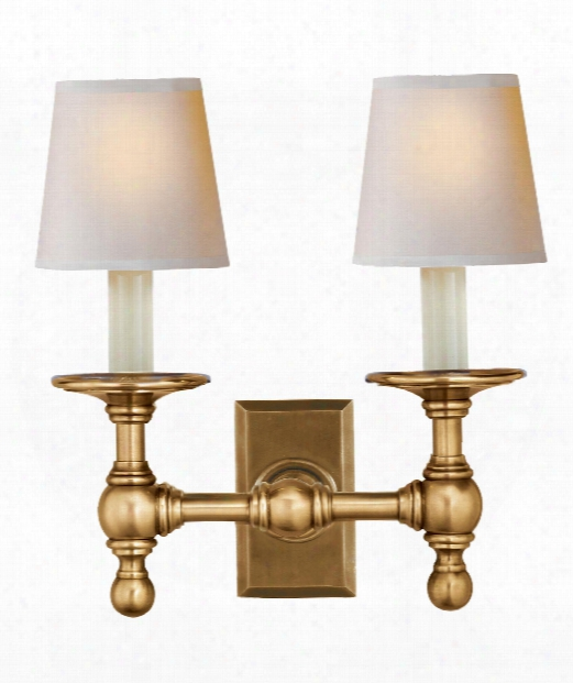 """Classic 10"""" 2 Light Wall Sconce In Hand-rubbed Antique Brass"""