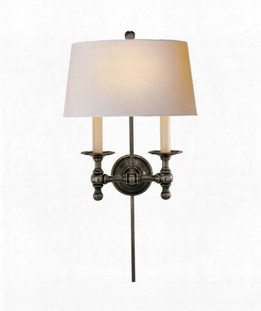 """Classic 13"""" 2 Light Wall Sconce In Bronze"""