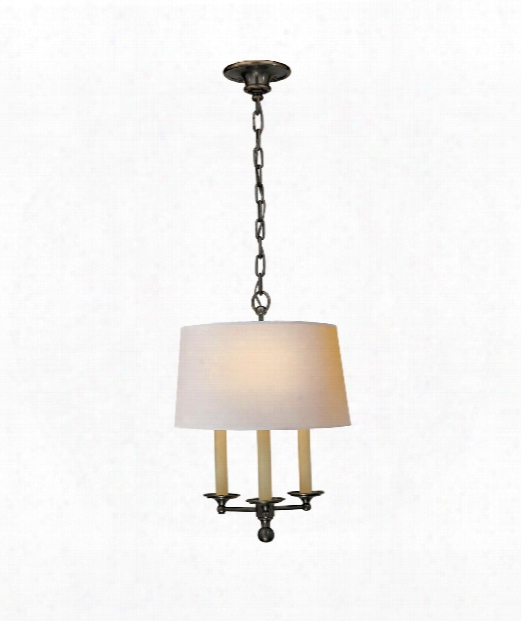 "Classic 14"" 3 Light Large Pendant In Bronze"