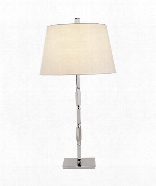"Coral 15"" 1 Light Table Lamp In Polished Nickel"