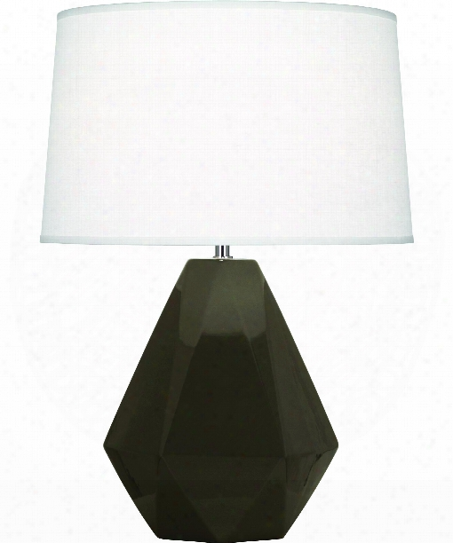 "Delta 10"" 1 Light Table Lamp In Polished Nickel-brown Tea"