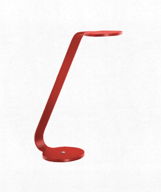 """Disc 6"""" Led 1 Light Desk Lamp In Ferrari Red"""