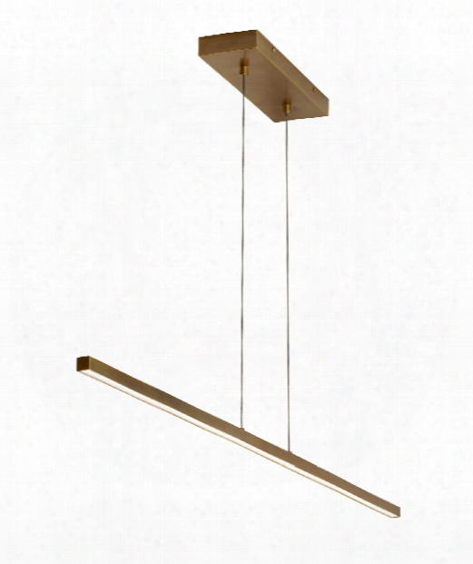 "Essence Linear 50"" Led 1 Light Island Light In Aged Brass"