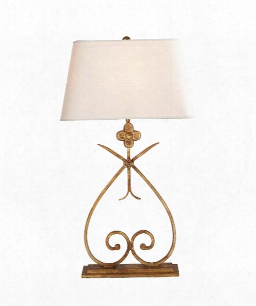 """Harper 16"""" 1 Light Table Lamp In Gilded Iron"""