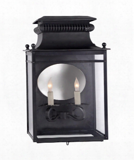 """Honore 12"""" 2 Light Outdoor Outdoor Wall Light In Blackened Copper"""