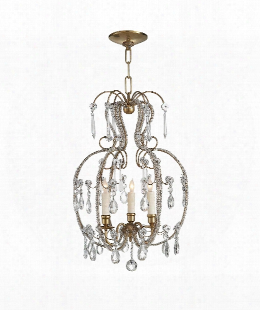 """Hurley 16"""" 3 Light Chandelier In Hand-rubbed Antique Brass"""