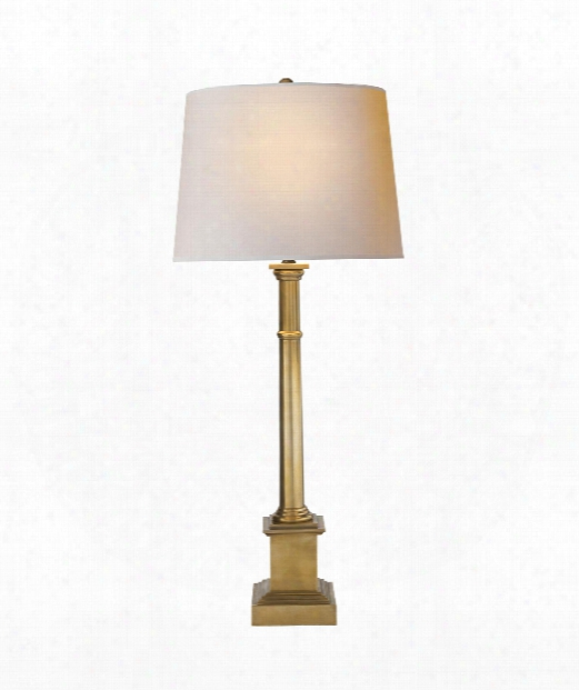 "Josephine 14"" 1 Light Table Lamp In Hand-rubbed  Antique Brass"
