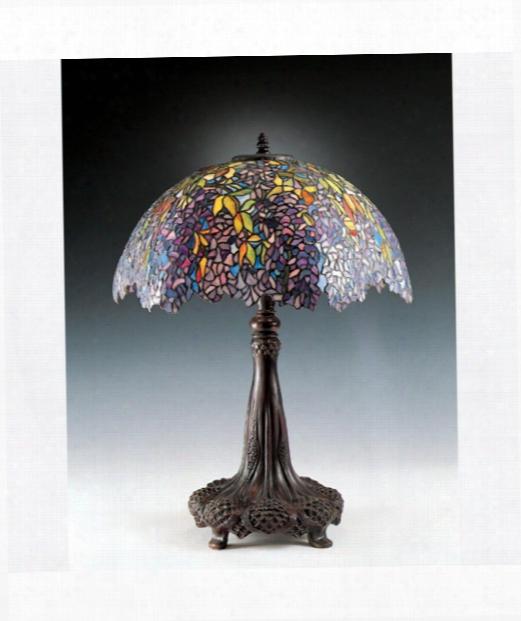 """Laburnum  22"""" 3 Light Table Lamp In Architectural Bronze"""