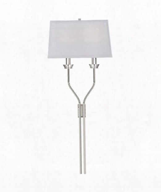 "Lana 12"" 2 Light Wall Sconce In Polished Nickel"