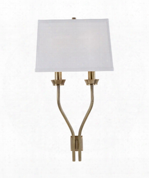 """Lana 9"""" 2 Light Wall Sconce In Antique Burnished Brass"""