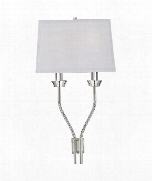 "Lana 9"" 2 Light Wall Sconce In Polished Nickel"