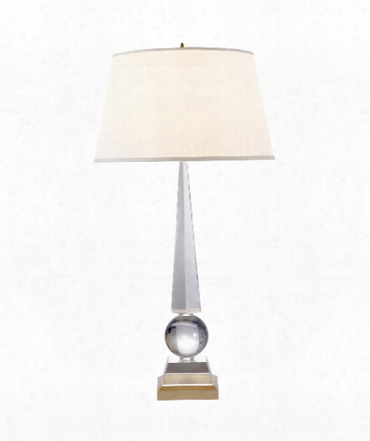 """Leigh 19"""" 1 Light Table Lamp In Crystal"""