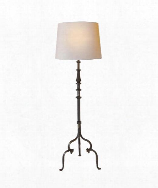 "Madeleine 21"" 1 Light Floor Lamp In Aged Iron"