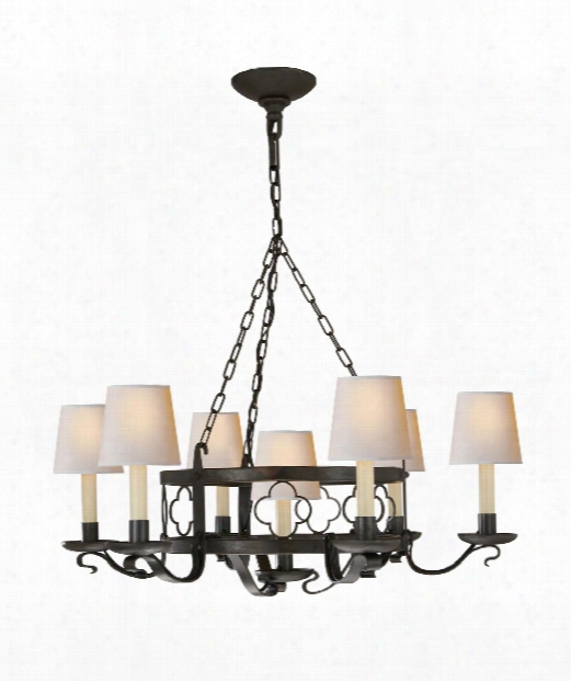 "Margarite 26"" 7 Light Chandelier In Aged Iron"