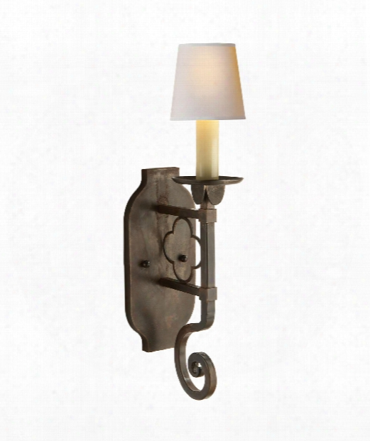 """Margarite 5"""" 1 Light Wzll Sconce In Aged Iron"""