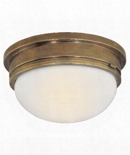 "Marine 13"" 2 Light Flush Mount In Hand-rubbed Antique Brass"