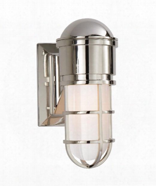 "Marine 5"" 1 Light Wall Sconce In Polished Nickel"