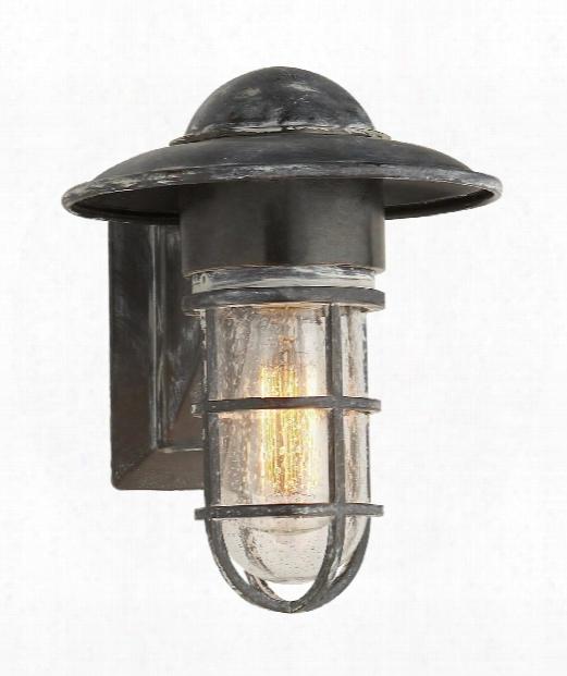 "Marine 9"" 1 Light Outdoor Outdoor Wall Light In Weathered Zinc"