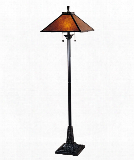 "Mica Camelot 18"" 2 Light Floor Lamp In Mica Bronze"