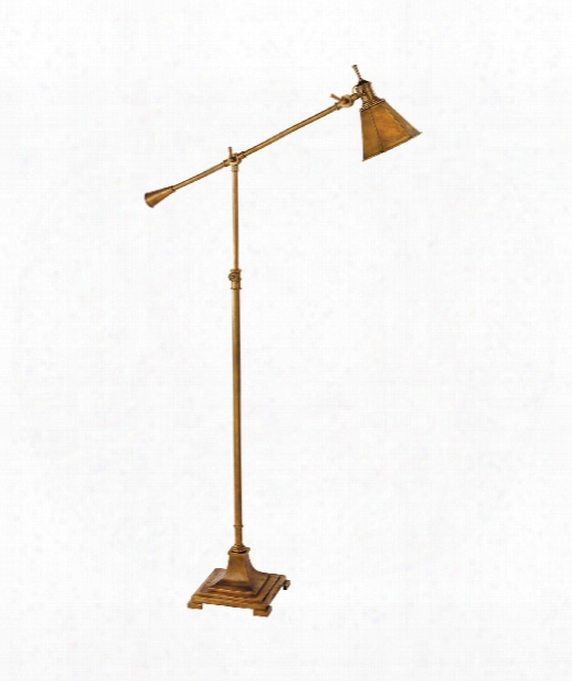 """Mini Architects 8"""" 1 Light Reading Lamp In Hand-rubbed Antique Brass"""