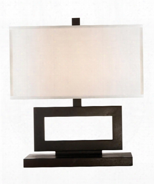 """Mod 15"""" 1 Light Table Lamp In Aged Iron"""