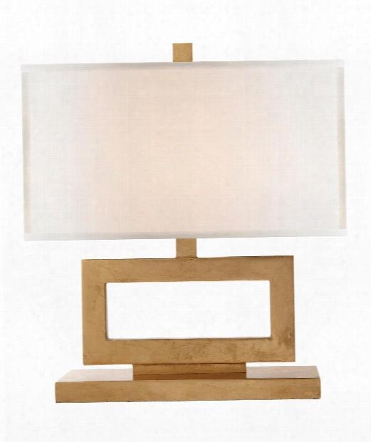 "Mod 15"" 1 Light Table Lamp In Gild"