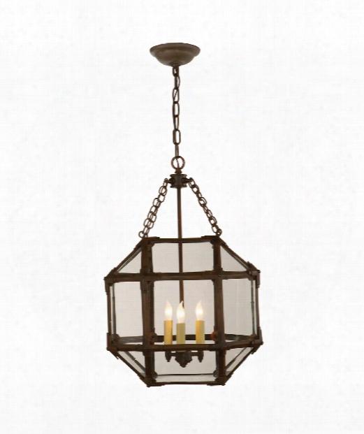"""Morris 14"""" 3 Light Mini Pendant In Antique Zinc"""