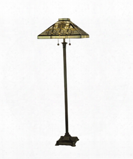 "Old Park Mission 18"" 2 Light Floor Lamp In Fieldstone"