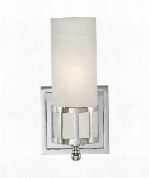 """Openwork 5"""" 1 Light Wall Sconce In Chrome"""