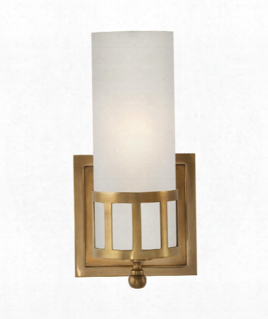"""Openwork 5"""" 1 Light Wall Sconce In Hand-rubbed Antique Brasss"""