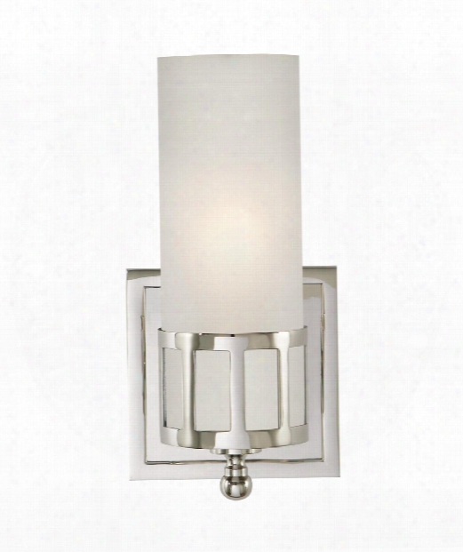 "Openwork 5"" 1 Light Wall Sconce In Polished Nickel"